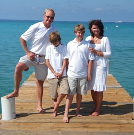 Carolina Resorts Realty and Vacations Owner Keith Hellmer and Family